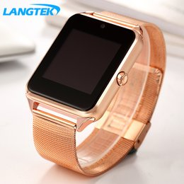 Bluetooth Smart Watch Sim Australia - LANGTEK Bluetooth Smart Watch Z60S MTK6261D Clock Smartwatch with Camera SIM TF Card Slot for Iphone Xiaomi Android Phone