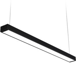 Chinese  : Aluminum LED strip office Pendant Light rectangular L120cm LED Pendant Lamp modern Home lighting square fluorescent lamp G915 manufacturers