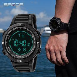 Men Digital Wrist Watches Canada - SANDA Sd360 Fashion Sport Watch Men Brand Luxury Electronic LED Digital Wrist Watches For Men Waterproof Clock Relogio Masculino 360