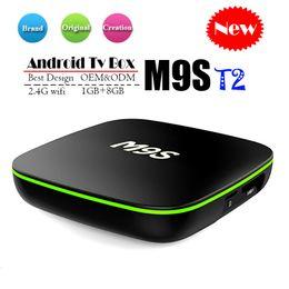 Flash google online shopping - Original M9S T2 Android TV Box GB GB eMMC Flash k Allwinner H3 Streaming Media Player BETTER Amlogic S905W TX3 X96 MINI