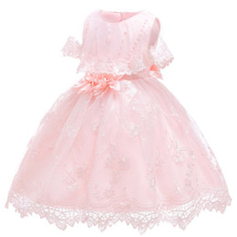 Discount baby years birthday dresses - Newborn Toddler Girl Floral Baptism Dress Baby Girls Princess Tulle Formal Dresses 1st Year Birthday Gift Kids Party Clo