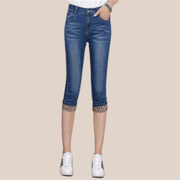 63d2e00c19 Skinny cute women online shopping - Europe US New Fashion lady Preppy Style  casual Cropped Jeans