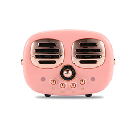 Usb mp3 mUsic player online shopping - Cute Bluetooth Speakers Portable Wireless Subwoofer Retro Radio Loudspeaker Handsfree Stereo TF AUX Music Box for iPhone Xmas Gift
