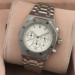 platinum mens gifts 2018 - All Subdials Work AAA Mens or womenes Watches Steel Quartz Wristwatches Stopwatch Luxury Watch Top Brand relogies for me