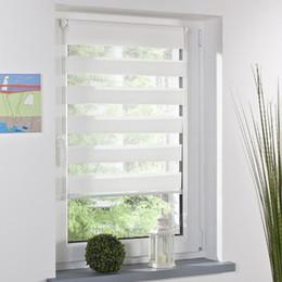 Ingrosso Moda rullo zebra cieco tenda finestra finestra ombra decorazione domestica ufficio bianco