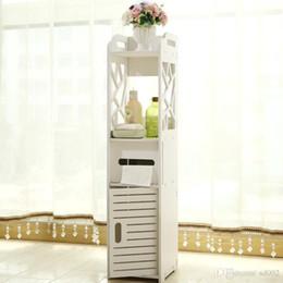 Toptan satış Pratik Depolama Kabine Hollow Out Tasarım Tuvalet Yan Dolap Paris Eyfel Kulesi Desen Banyo Mobilyaları Sıcak Satış 41nf ii