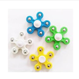 Hand spinner pk online shopping - 2018 best Five ball EDC Fidget Spinner finger spinner toy Hand spinner HandSpinner EDC Toy For Decompression Anxiety Toy PK aLLOY ONE