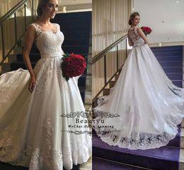 $enCountryForm.capitalKeyWord Australia - Modest Plus Size Wedding Dresses Bridal Gowns 2018 Plus Size Cheap A Line Vintage Lace Country Beach Vestido de novia With Sweep Train