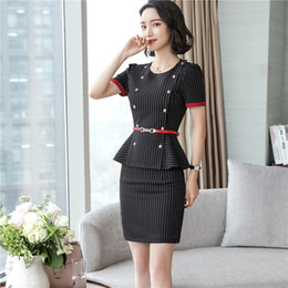 $enCountryForm.capitalKeyWord Canada - Summer Style Short Sleeve Formal OL Styles Work Suits With 2 Piece Tops And Skirt Ladies Office Blazers Outfits Plus Size 4XL