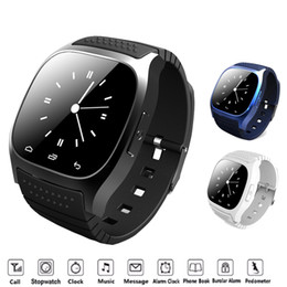 Smartwatch whatSapp online shopping - Bluetooth Smart Watch M26 With Camera support Facebook Whatsapp Twitter Sync SMS Smartwatch Support SIM TF Card For IOS Android