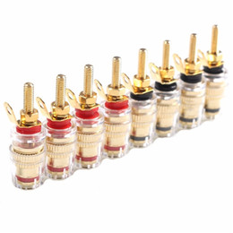 $enCountryForm.capitalKeyWord Australia - 8pcs 42MM Gold Plated Speaker Terminal Binding Post Low frequency Amplifier Connector Long Plug for 4mm Banana Plugs