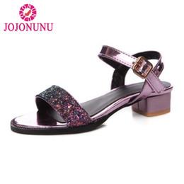 d7fc9c8d9443 Ladies Bling Sandals Canada - wholesale Size 32-43 Women Sandals Thick Heel  Buckle Bling