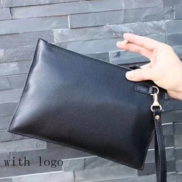Design Genuine Leather NZ - New Design Casual Genuine Leather Men's Envelope Clutch Business Men Clutch Bags Solt Leather Large Capacity Hand Bags for Male