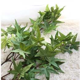 Discount quality fake plants - New wedding artificial plants Quality American large Maple Leaf home decoration fake flowers Articifical silk flower 75c