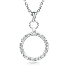 $enCountryForm.capitalKeyWord NZ - New round shape Magnifying glass necklace simple design magnifying glasses for reading men fashion Magnifier KKA2119