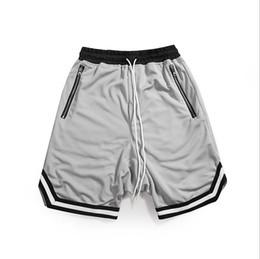 Knee Skateboard NZ - High Street Men Pants Elastic Waist Justin Same Shorts Hip Hop Skateboard Trouser Knee Length Mens Pants