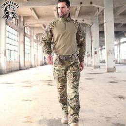 camouflage combat suit 2018 - SIN Tactical G3 Camouflage Suit Uniform BDU Rapid Assault 1 4 Zip Combat Shirt Pants Set Multicam Sniper cheap camouflag