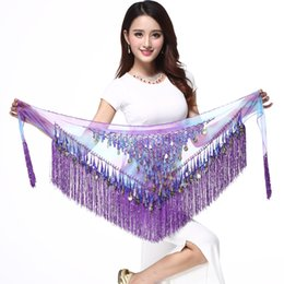 $enCountryForm.capitalKeyWord NZ - NEW Tassel Sequin Waist Chain Belly Dance Belt Shinning Hip Scarf Wrap Indian Dress Accessory Performance Costumes Wholesale High Quality