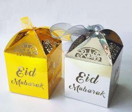 $enCountryForm.capitalKeyWord NZ - hot sale gold silver happy Eid Mubarak paper gift box ramadan decorations Islamic party happy Eid Mubarak decorations