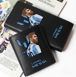 messi case NZ - Lionel Messi wallet Blue white purse Football star short long leather cash note case Money notecase Loose change burse bag Card holders