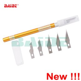 Wholesale New Gravers With Blades Hobby Knife Art Wood Carving Tools Cutter Graver For Leather PCB Repair Films Glass Tool DIY Knife set