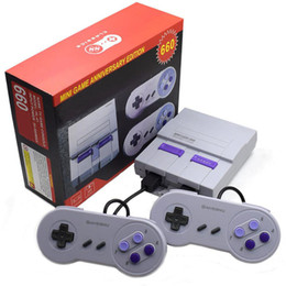 China Super Classic SFC TV Handheld Mini Game Consoles 2018 Newest Entertainment System For 660 SFC NES SNES Games Console with box hot sale suppliers
