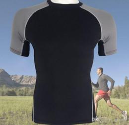Ingrosso Nuovo sport maschile fitness compressione rapida asciugatura sudore stretto T shirt commercio estero abbigliamento sportivo abbigliamento sportivo
