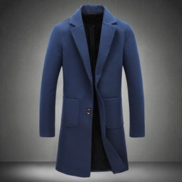 Discount black military trench coat men - Long Black Coats Men Cloak For Male Trench Coat Especially With The Sleeves Open Winter Autumn Jackets Military Outfit F