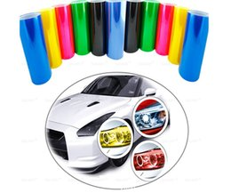 light car headlight taillight sticker Canada - 30cm x 100cm 12-Color Auto Car Tint Headlight Taillight Fog Light Vinyl Smoke Film Sheet Sticker Cover 12inch x 40inch Car styling Accessori