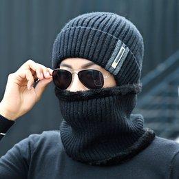 $enCountryForm.capitalKeyWord NZ - simple Winter Hat Scarf Skullies Beanies For Men Knitted Hat Women Mask Thick Balaclava Earflap Wool Bonnet Male Beanie Hats Cap