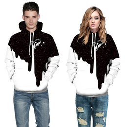 92a946d4d8 Couple sweaters online shopping - Fashion Milk Cup Pattern D Printing  Hooded Sweater Casual Hooded Couple