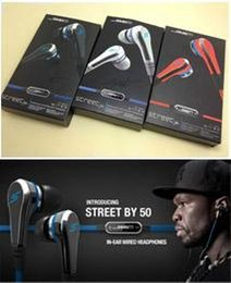 China Cheapest Fashionable SMS Audio 50 cent In-Ear headphones Mini 50 cent with mic and mute button earphone STREET by 50 Cent earbud 3 colors suppliers