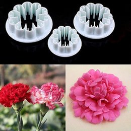 cake fondant sugarcraft flower modelling NZ - Blossom Carnation Flower Fondant Cake Sugarcraft Gum Paste Cutter Plunger Christmas Cake Decorating Tools 12Pcs Set