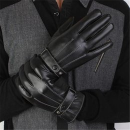 $enCountryForm.capitalKeyWord NZ - Winter Mens Gloves Quality High PU Leather Sale Luxurious Hot Black CashmereTactical Driving Design Warm Pair