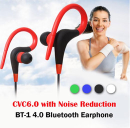 samsung cycling 2019 - BT-1 Wireless Bluetooth 4.1 Sport Earphone Stereo Sound Earbuds Noise Cancelling Earpieces for Running Hiking Jogging Cy