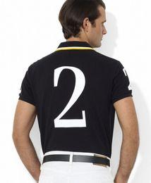 Men S Big Watch Australia - Leading Black Watch Polo Team Mens Polo Shirt Big Horse Print USA Casual T-Shirts Short Sleeve Fashion Polos Summer S-XXL