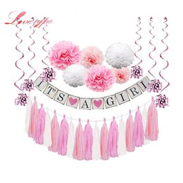 Event Party Holiday DIY Decorations Baby Shower Its A Boy Girl Photo Booth Cake Topper Pompoms Birthday Decoration For First