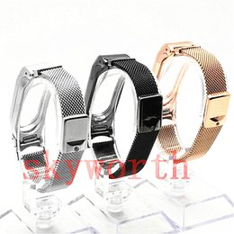 Für Xiaomi Mi 2 Mesh Strap Edelstahl Uhrenarmband Armband Magnetic Milanese Loop Wristband Ersatz M2 Roségold Smart Accessoires
