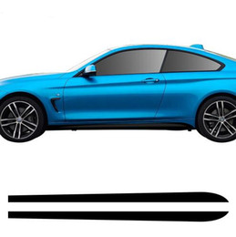 $enCountryForm.capitalKeyWord UK - 2pcs New Style M Performance Side Skirt Sill Decal Stripe Vinyl Sticker for BMW 4 Series F32 F33 420i 428i 435i