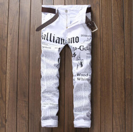 dsel jeans NZ - Hot Sale Fashion Men Jeans Dsel Brand Straight Fit Ripped Jeans Italian Designer 100% Cotton Distressed Denim Jeans Homme