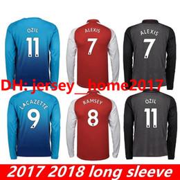 f6677717a26 New Alexis jerseys 2017 2018 FC ARS OZIL WILSHERE RAMSEY GIROUD LACAZETTE  Long sleeves Soccer Jersey 17 18 Sanchez home away football shirts