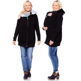 da6edc0f6 Moda Baby Carrier Jacket Kangaroo Warm Maternity Hoodies Mujeres prendas de  vestir exteriores Abrigo para mujeres embarazadas Casual cremallera Hoody  Coats