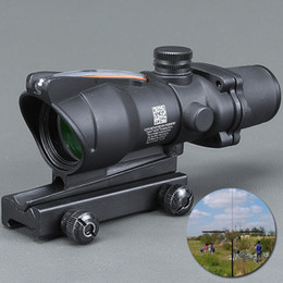 trijicon acog scopes NZ - Trijicon ACOG 4X32 Fiber Source Red Illuminated Scope black color Tactical Hunting Riflescope