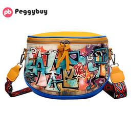 Discount graffiti handbags - Fashion Graffiti Printed Handbags Women Girls PU Leather Messenger Shoulder Handbags Crossbody Shoulder Bags For Teenage