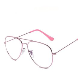$enCountryForm.capitalKeyWord UK - Fashion Women & Men Classic plain Glasses Alloy Frame Eyeglasses Flat Mirror Radiation Protective Goggles Spectacles Couple Glasses 6 Colors
