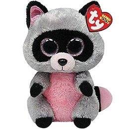 """China Pyoopeo Ty Beanie Boos 6"""" 15cm Rocco the Raccoon Plush Regular Soft Big-eyed Stuffed Animal Collection Doll Toy with Heart Tag cheap raccoon soft toys suppliers"""