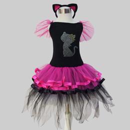 short christmas dance dresses australia childrens wear stage black cat color matching dress black rose