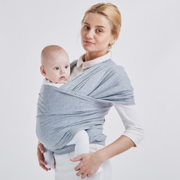 Cotton sling pouCh online shopping - solid color Baby Sling For Newborns Soft Infant Cradle Pouch Comfortable Breathable Wrap Hipseat Mother And Baby Supplies