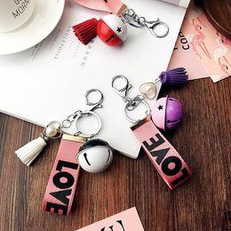Handbag Collection Australia - collection kids toy gift Keyring Charm Pendant Small bell Handbag Keychains