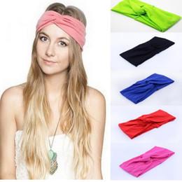 $enCountryForm.capitalKeyWord Australia - Free Shipping Twist Turban Headband for Women Bows Elastic Sport Hairbands HeadBand Yoga bands Headwear Headwrap Girls Hair